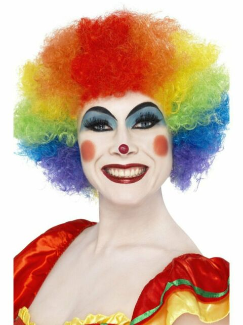 Classic Crazy Clown Wig Multicoloured 120g Fancy Dress Costume Accessory
