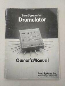 Capable Rare Original Emu Drumulator Drum Machine Manuel-afficher Le Titre D'origine De Haute Qualité Et Peu CoûTeux