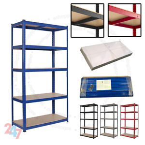 Heavy-Duty-Metal-5Tier-Boltless-Shelving-Racking-For-Home-Shop-Warehouse-Storage