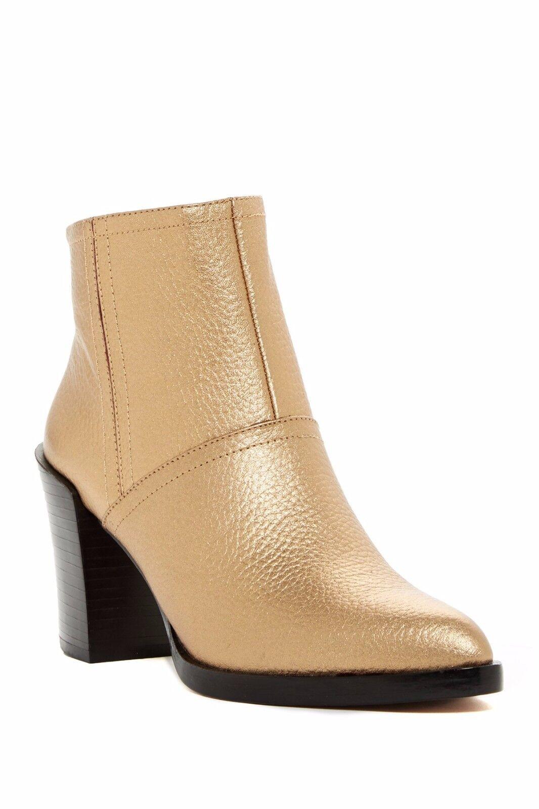 DEREK LAM Gold 10 CROSBY RAINE Copper Gold LAM Metalic Leder Stiefel Bootie Sz 9 NIB 395 867d9d