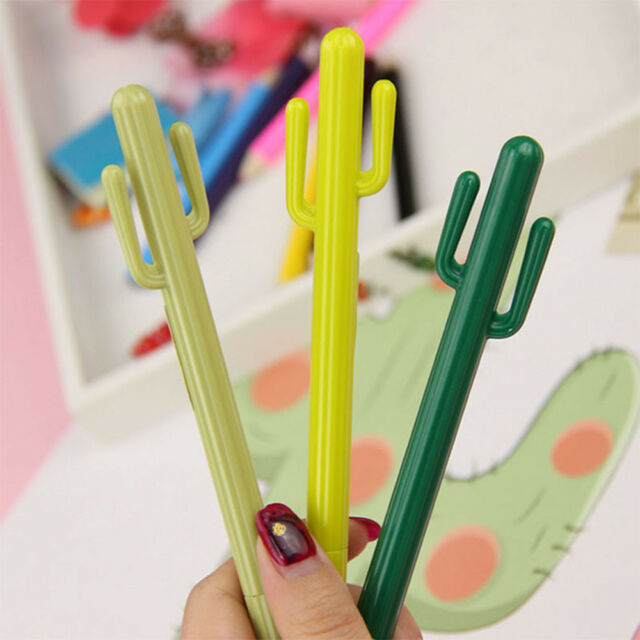 2Pcs Cactus Design Gel Pen Writing Supplies Ball Pens For Office School