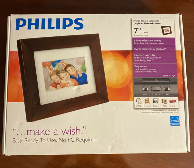 Philip's Home Essentials Digital PhotoFrame 7'' LCD Panel ~ New