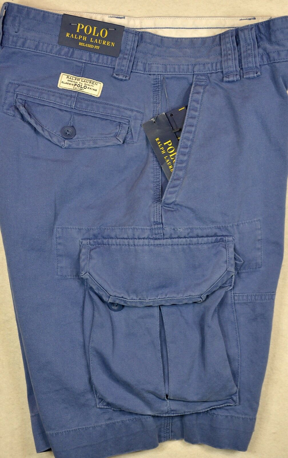 Polo Ralph Lauren Cargos Gellar Fatigue Cargo Shorts bluee Size 31 NWT