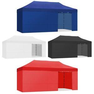 Tente pliante facile 3x6m impermeable couleur Blanc, Noir, Rouge, Bleu -McHaus