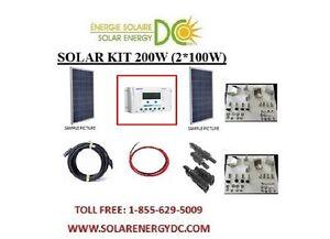 solar panel kit panneau solaire 200w 200 watt 2 100 w. Black Bedroom Furniture Sets. Home Design Ideas