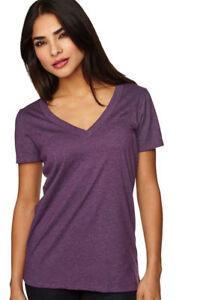 Next-Level-Women-039-s-Extreme-Soft-Baby-Knit-Collar-CVC-Deep-V-Neck-T-Shirt-6640