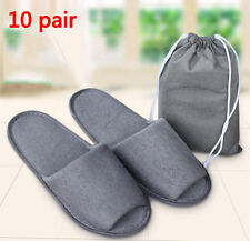 10pair Breathable Gray Hotel Travel Disposable Slippers Slippers SPA Slippers