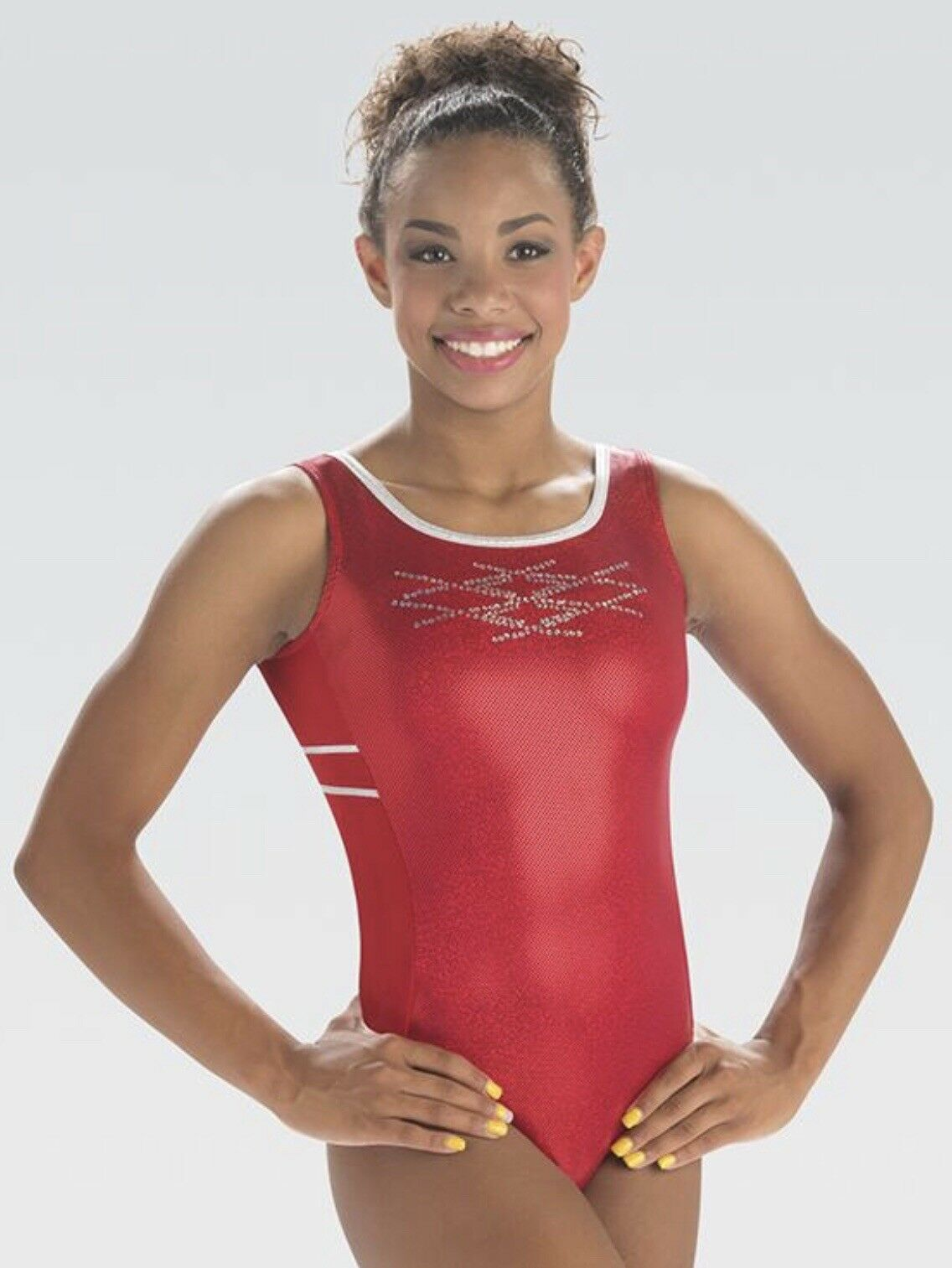 GK Elite RED SPARKLE TANK Leotard ADULT SMALL AS 3802 MSRP  NEW