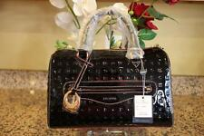 NWT Arcadia Signature Black Paten SV Handbag (pu110