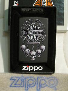 ZIPPO HARLEY DAVIDSON Lighter HANGING SKULLS Sealed BAR ...