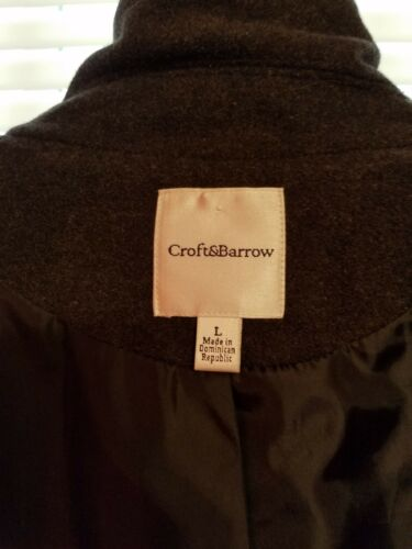 Double And Croft Large Breasted Størrelse Coat Wool Grey Barrow Women's Pea Blend fcYwq6R