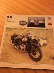 Ariel-550-VB-lateral-car-Golondrinas-1933-Tarjeta-motorrad-Coleccion-Atlas