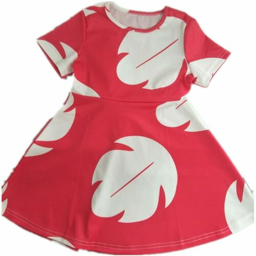 Booking day Lilo /& Stitch Girl Dress Fairy Tales A Line Dress Vestidos Hawaiian