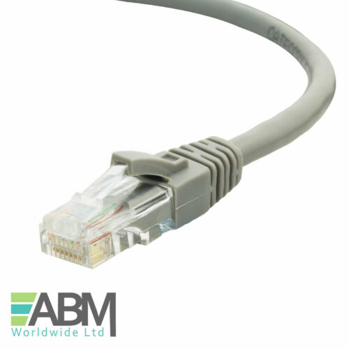 RJ45 Ethernet Netzwerk Cat5e Lan Patch Kabel für Breitband Internet Lot Grau