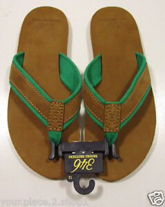 a2db8c57873 Image is loading Brooks-Brothers-Men-039-s-Flip-Flop-Brown-