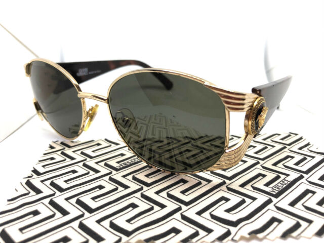 f7ae6c41730a Gianni Versace Mod.S64 Col.030 Gold Vintage Sunglasses with Case   Migos  Rihanna