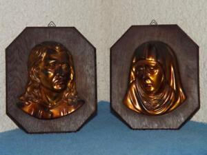 Maria-und-Jesus-Relief-aus-Holz-Kupfer-Wandbild-mit-Aufhaenger-selten-Raritaet