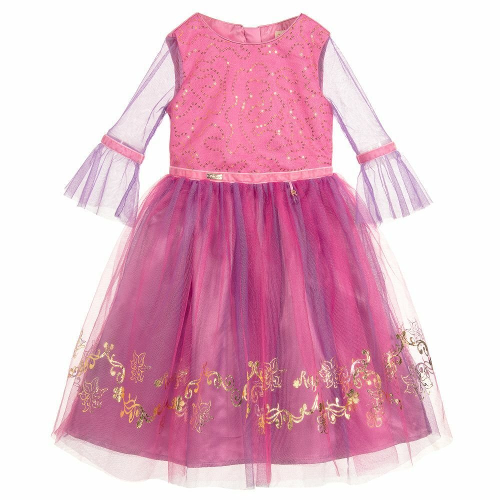 Girls Luxury Official Disney Boutique Rapunzel Occasion Party Dress Age 7-8 Yrs