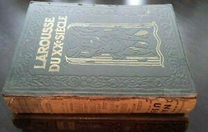 Larousse de La Siglo Xx P. Ojo VOL1 + 3 Impresión+Folios+Tablas 1928 París ABE