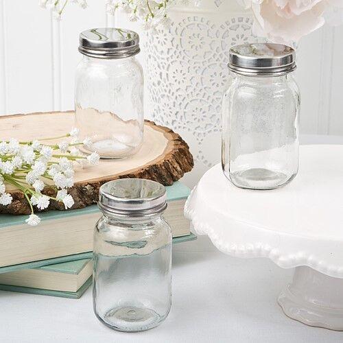 60 Mini Glass Candy Holder Mason Jar Wedding Bridal Shower Party Favors
