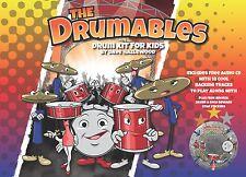 Il drumables-DRUM KIT FOR KIDS-libera supporto traccia CD-Principiante LIBRO!