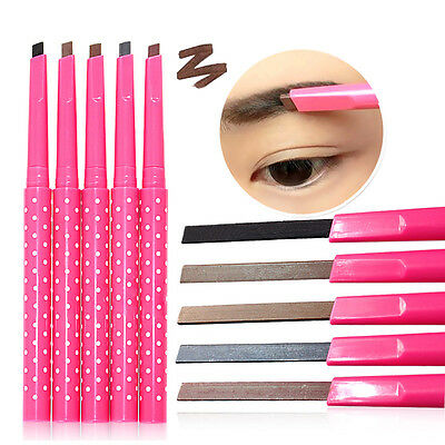Waterproof Longlasting Eyeliner Eyebrow Pencil Cosmetics Makeup Tool 5 Color New