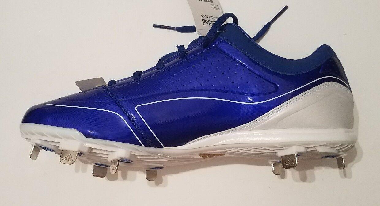Adidas adizero diamante re basso scarpe da baseball baseball baseball scarpe blu uomo numero13 nuovi | Usato in durabilità  e6982e