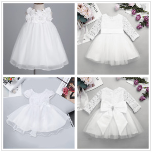 3e280dbd7af1 Image is loading Flower-Girl-Princess-Lace-Bridesmaid-Wedding-Dress-Gown-