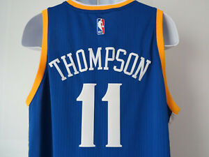 KLAY-THOMPSON-Golden-State-Warriors-ADIDAS-JERSEY-11-XL-SWINGMAN-Blue-Gold