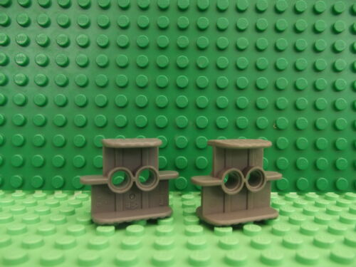 2 Lego Technic Dark Bluish Grey Rubber Band Belt Holder 2 x 4 x 2 1//3 41752 T103
