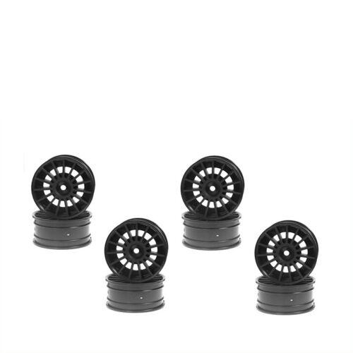 Felge 1:10 Aero 24 mm 15-Speichen schwarz 8 Stück Kyosho 92012-08BK 701369