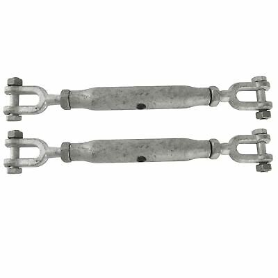 Rigging Vite 10mm Zincato Mascella Di Mascella 2 Pack Turnbuckle I Dk67-