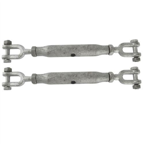 Gréement à vis 10mm mâchoire mâchoire galvanisé de 2 pack turnbuckle contrait dk67