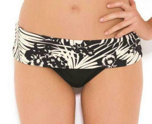 Panache Claudette Black Ivory Fold Bikini Pant8 10 12 14 16 18 20Womens