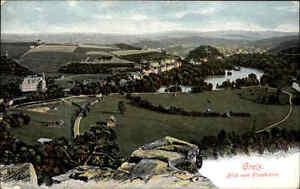 Greiz-Thueringen-alte-Color-AK-1910-Blick-vom-Hirschstein-Panorama-Gesamtansicht
