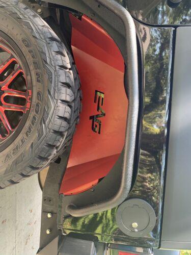 EAG JK Front and Rear Inner Fender Kit Sheet Metal Red 6PCS with Logo Cut Fit for 07-18 Jeep Wrangler JK