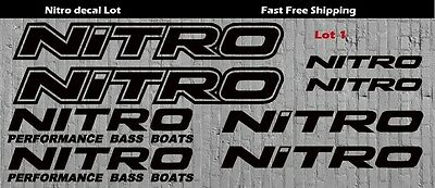 """5/"""" Nitro High Quality Decal Sticker Tackle Box Fishing Boat Trailer Truck lures"""