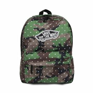 8d05321f9a Vans REALM Camo Dot Backpack (NEW) Camouflage Dots SCHOOL BAG Army ...