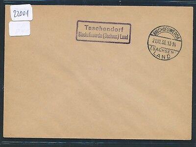 Landpost Ra2 Taschendorf über Bischofswerda Energisch 22001 Ddr Land Brf 1933 sachsen