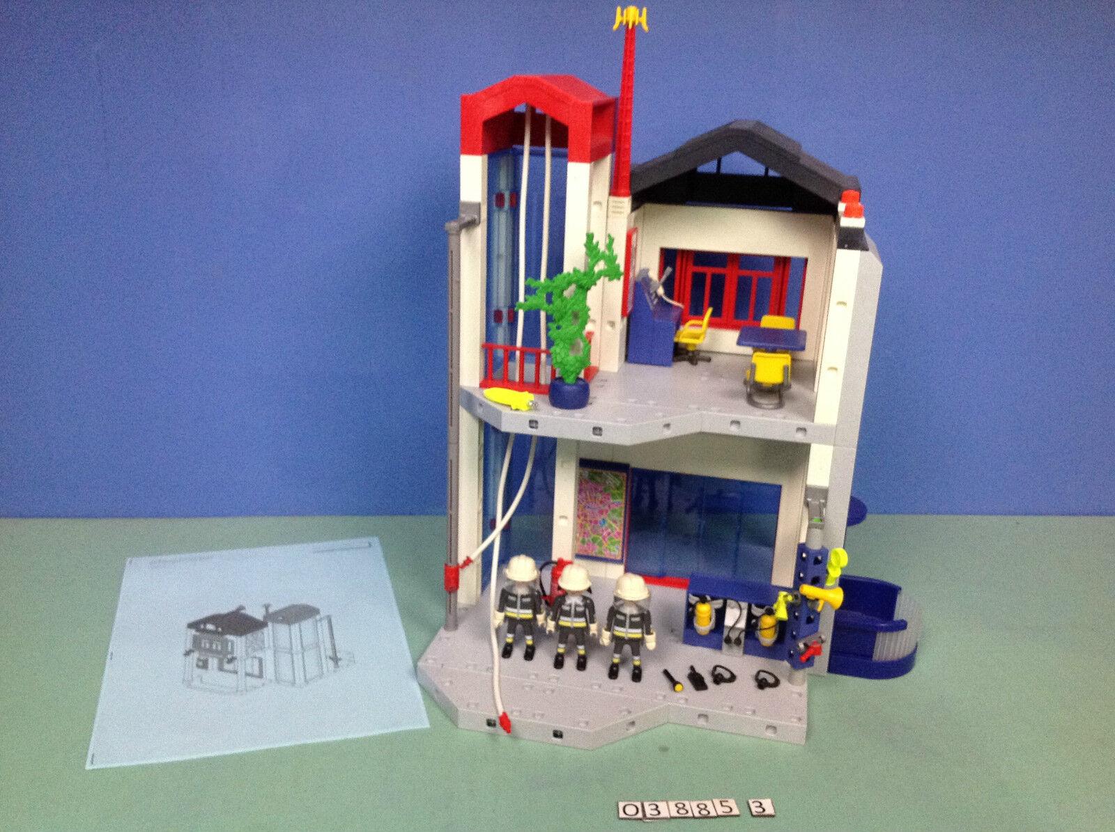 (O3885.3) playmobil Caserne de pompiers centre d'entraînement ref 3885