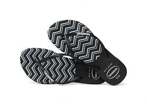 b969c88f6b51 Havaianas Women`s Flip Flops Slim Zigzag Sandals Black and White NWT ...