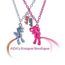My Little Pony Best Friends Pendant Necklaces Set 2 BFF Twilight Pinkie Pie NWT
