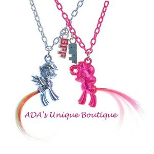My little pony best friends pendant necklaces set 2 bff twilight image is loading my little pony best friends pendant necklaces set mozeypictures Gallery