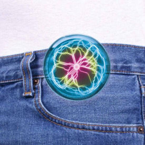 New Fancy Mini Pocket Plasma Disk Sensor Lighting Plate Home Disco Party Decor