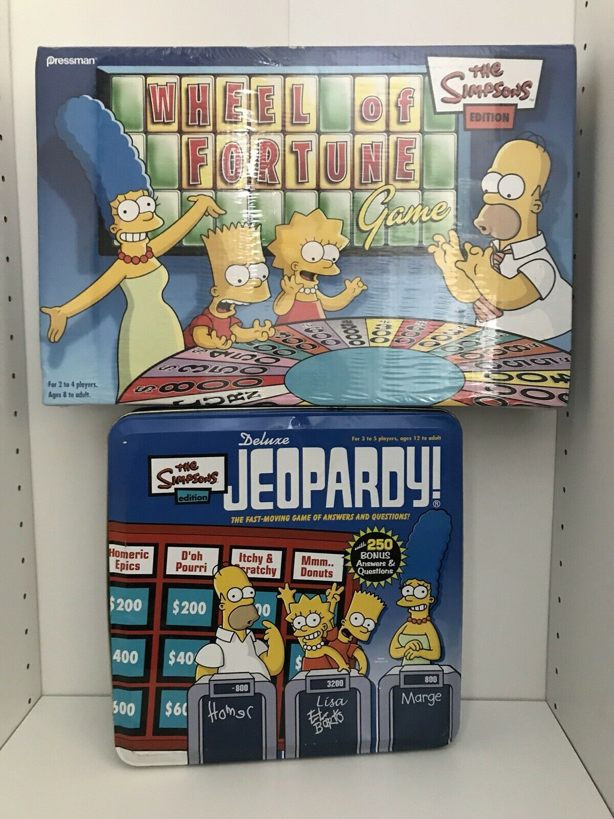 The Simpsons Edition Deluxe Jeopardy & Wheel of Fortune NIB & Factory Sealed