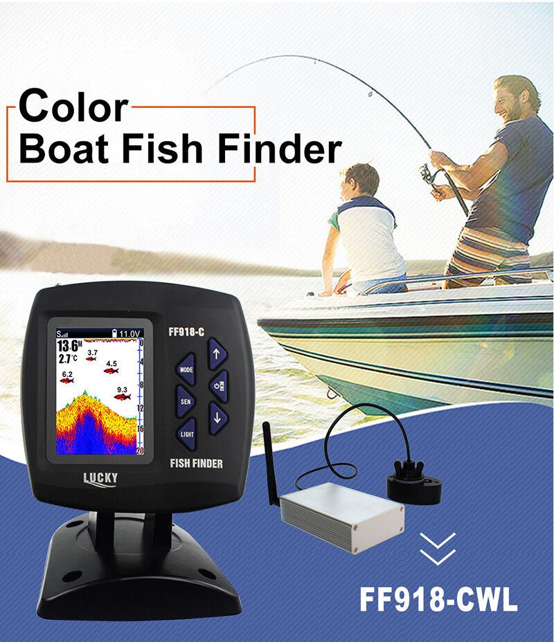 SUERTE FF918-CWLS color inalámbrica Sonar Fish  Finder 300 980 msnm Inglés Ruso  the best after-sale service