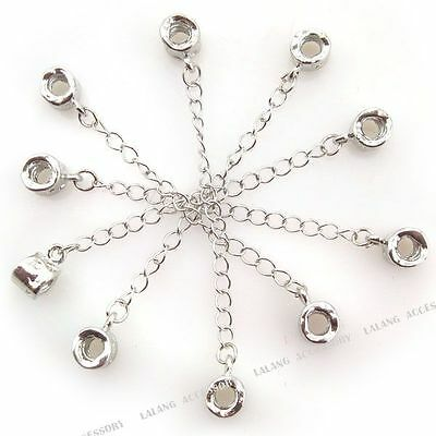 5x Wholesale Bulk Threaded Safety Chain Stopper Beads Fit European Bracelet 88mm