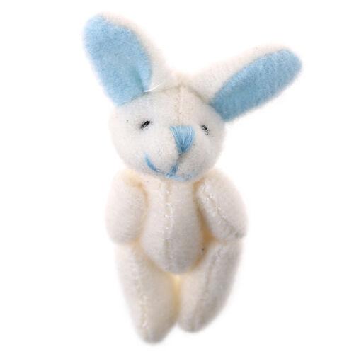 Mini 4cm Kaninchen Plüsch Plüsch Baby Spielzeugpuppen für Kinder Pralinenscha BC