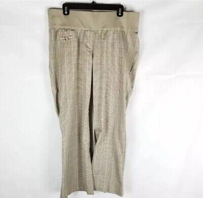 Liz Lange Maternity Pants Size12brown Plaid Pregnancy Bottoms Underbelly Small Ebay