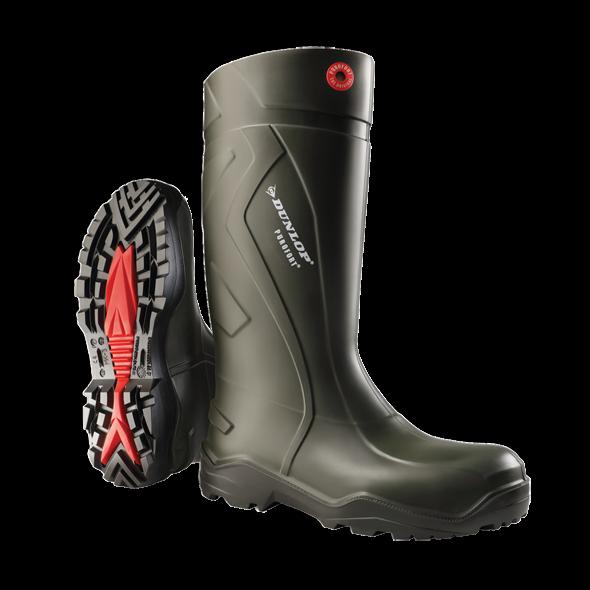 Dunlop PUROFORT+D760933 Unisex Mens Womens Non-Safety Wellington Boots Green